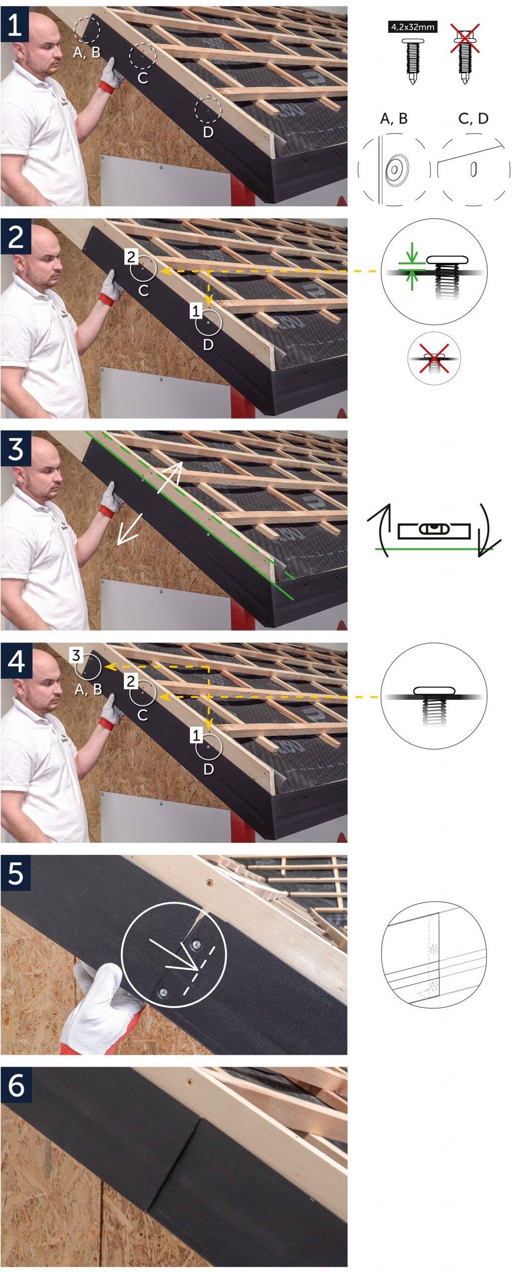 Instrukcja montażu System MOD - wiatrownica dolna WD